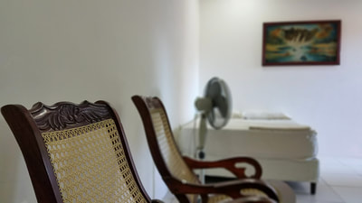 Rocking chairs inside Nicaholidays private room in Leon Nicaragua